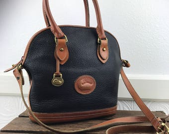 "DOONEY & BOURKE Pebbled Leather ""Bowler "" Style Satchel Crossbody Bag"