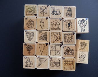 DOTS Stamp Assortment - Birthday - Hearts - Flowers - Stamp Set (23 stamps)
