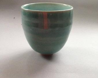 Thrown porcelain beaker