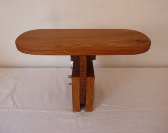 Chestnut wooden bench