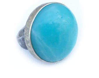 Sterling Blue Amazonite Ring