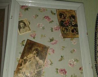 romantic background floral linen fabric