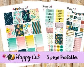 Summer Garden // Printable Kit for Happy Planner