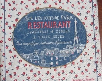 """Napkin """"on the rooftops of Paris"""""""