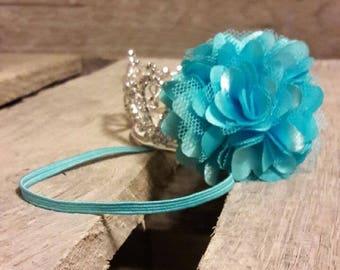 Thin Elastic Headband with Flower