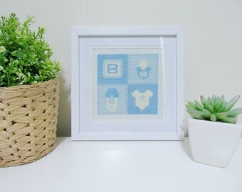 Baby Boy Quilt Cross stitch