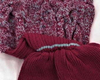 Wool blanket, blanket handmade blanket Mermaid blanket knitted, winter blanket, plaid wool, plaid handmade.