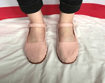 Light pink Mary Janes