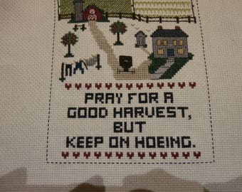 From Estate 3 Worked Counted Crossstitch Mottos  Ready to Frame or use as crafts