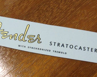 Fender Stratocaster Headstock Decal Metallic Waterslide Decal