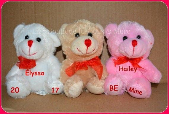 valentine's plush teddy bear personalized gift kids, Ideas