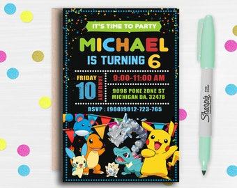 Pokemon Invitation, Pokemon Birthday, Pokemon Birthday Invitation, Pokemon Party, Pokemon Invite, Pokemon Go Invitation, Pokemon Printables