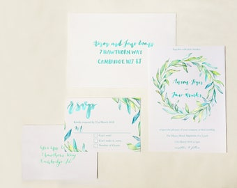The Laurel Suite (Classic) - Wedding Invitation and RSVP Cards