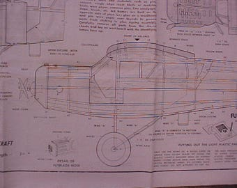 Curtiss Robin Model Airplane Plan 50 Inch Wing Span