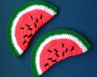 Watermelon Potholders, Handknit-FreeUS Shipping