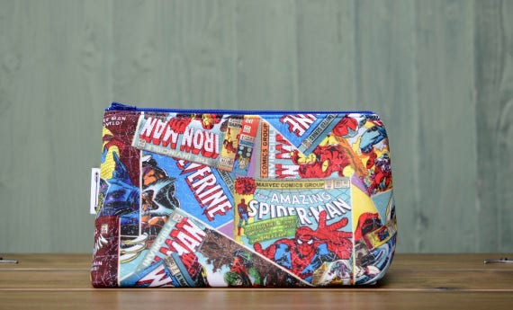 Marvel Comic book print large bag