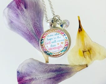 Hope in the Lord- Pendant Necklace