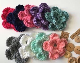 Newborn Hat Flower, Removable Flower, Crochet Hat Flower, Crochet Baby Hat, Crochet Girl Hat, Crochet Hat, Baby Shower Gift, Photo Prop