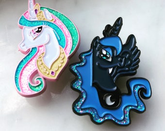My Little Pony Princess Luna and Celestia enamel Pin Set