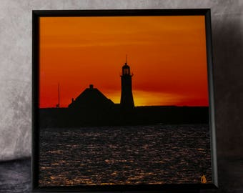 Framed Photograph: Old Scituate Light #1