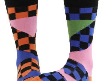 Splice combed cotton multicolour odd-socks | By seriouslysillysocks