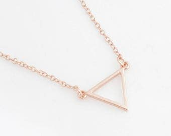 """Trapeze Necklace """"Triangle"""" rose gold"""