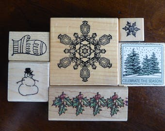 Winter Stamps - Set of 6 by Various Makers (Used)