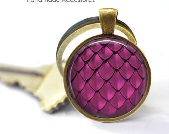 MERMAID SCALES Key Ring • Pink Scales • Dragon Scales • Pink Mermaid Scales • Fish Scales • Gift Under 20 • Made in Australia (K430)