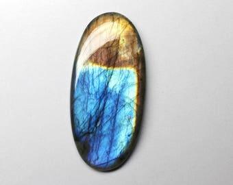 1 pcs 82.4 Cts.  AAA 100% Natural Blue Fire Labradorite Oval Cabochon Gemstone 57 x 27 x 6 mm Jewelry making handmade Gemstone