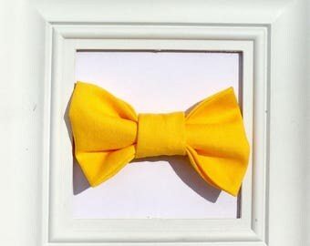Yellow Bow tie, Bow Tie, Children's Bow ties, Yellow baby bow tie, Bow tie for Baby, Bow tie for Kids, Toddler Bow tie, Infant Bow tie