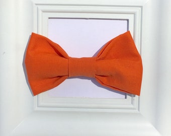Orange bow tie, Thanksgiving bow tie, Fall bow tie, Baby boy bow tie, bow tie onesie, Boys bow tie, baby bow tie, clip on bow tie, Handmade
