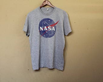vintage 90s nasa tshirt big logo size M nasa space shirt