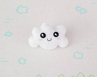 Happy Cloud Brooch or Keychain