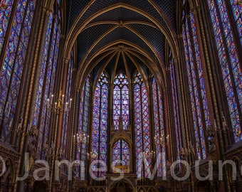 Photograph: Stained glass in Sainte-Chapelle, Paris