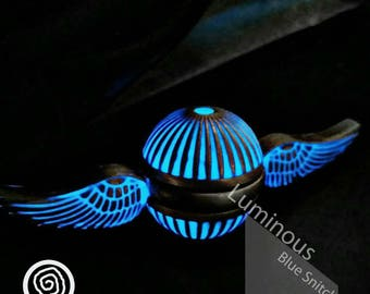 EDC Metal Fidget Spinner - Luminous Blue Snitch