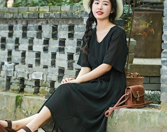 Black chiffon dress ,Black dress