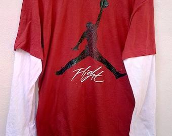 Vintage NIKE Air Jordan Long Sleeve tee shirt / 90's / Michael Jordan