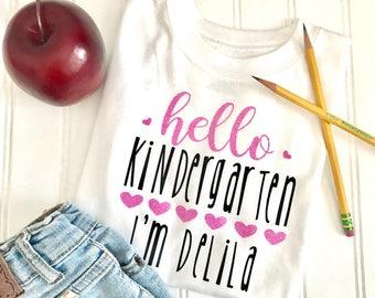 Hello Kindergarten Shirt, Back to School Shirt, Kindergarten shirt, Teacher Shirt, Kids Shirt, Custom Shirt, First Day Of School Shirt