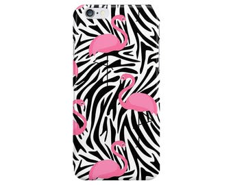 Flamingo Zebra Animals Pink Summer Flamingos Phone Case Cover for Apple iPhone 5 6 6s 7 8 Plus & Samsung Galaxy S6 S7 S8 Plus