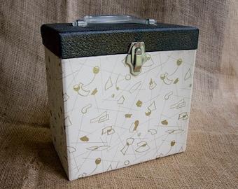 50's - 60's Style Platter Pak Record Case ~ Box, Holder for 45's