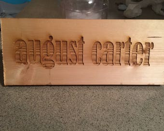 Customized wood signs