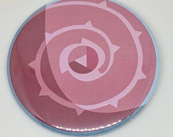 Rose Quartz Shield Button