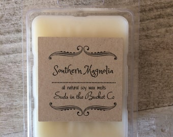 Southern Magnolia Soy Wax Melts /Scented Soy Wax Melt/ Farmhouse Natural Wax Melt All Natural