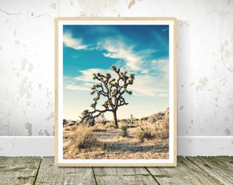 Cactus Tree Print, Desert Print, Cactus Tree Print, Home Wall Decor, Instant Print, Blue Sky Print, Cactus Plant Poster, Wall Print
