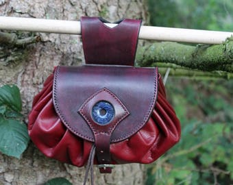 Purse medieval inspired XV century leather