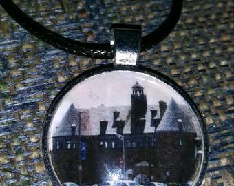 Circle Narragansett Towers- RI Collection 1 inch pendant