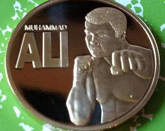 Muhammad Ali Sportsman of the Century Boxing Challenge Art Coin