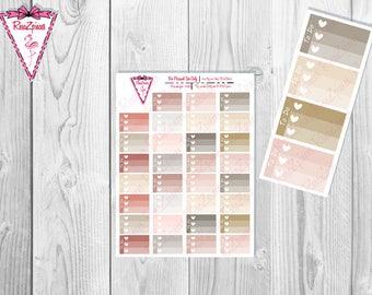 Printable *CUSTOM* Half Box Checklists - Neutral Colors