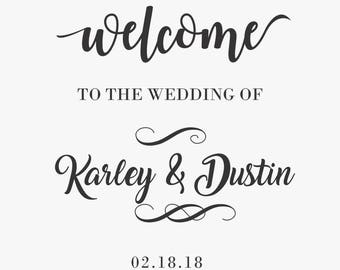 Wedding Welcome Sign Decal