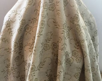 Olive and Ivory Jacquard- Sold by the Yard